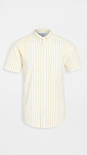 Portuguese Flannel Rayures Short Sleeve Button Down Shirt