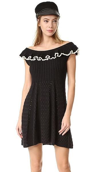 Philosophy di Lorenzo Serafini Cap Sleeve Dress - Black