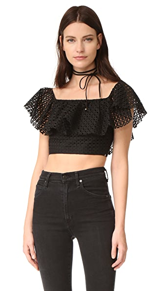Philosophy di Lorenzo Serafini Crop Top - Black