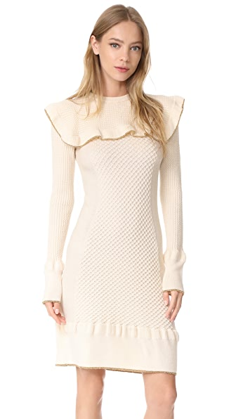 Philosophy di Lorenzo Serafini Ruffle Dress - Ivory