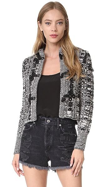 Philosophy di Lorenzo Serafini Knit Jacket In White/Black