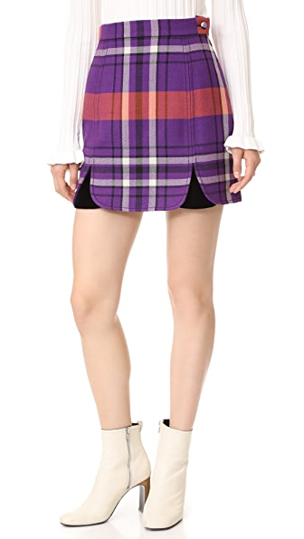 Philosophy di Lorenzo Serafini Plaid Miniskirt - Fantasy Print Orange
