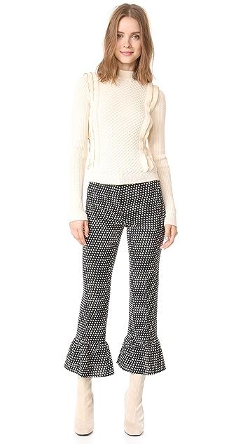 Philosophy di Lorenzo Serafini Cropped Ruffle Trousers