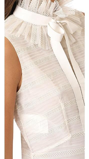 Philosophy di Lorenzo Serafini Sleeveless Ruffle Dress