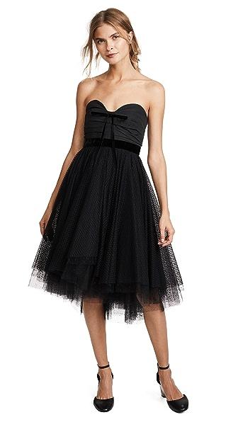 Philosophy di Lorenzo Serafini Strapless Tulle Dress In Black