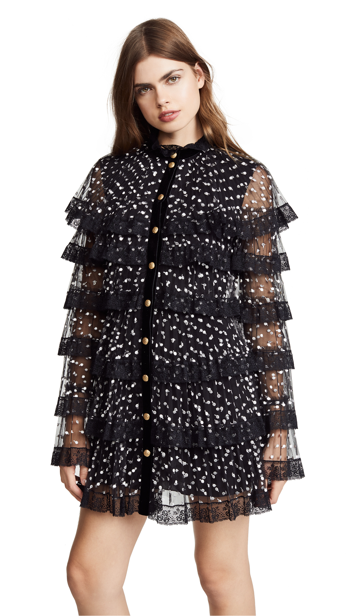 Philosophy di Lorenzo Serafini Tiered Ruffle Mesh Dress