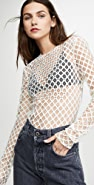Philosophy di Lorenzo Serafini Fishnet Top