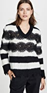 Philosophy di Lorenzo Serafini Striped V Neck Sweater