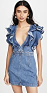 Philosophy di Lorenzo Serafini Deep V Neck Denim Dress