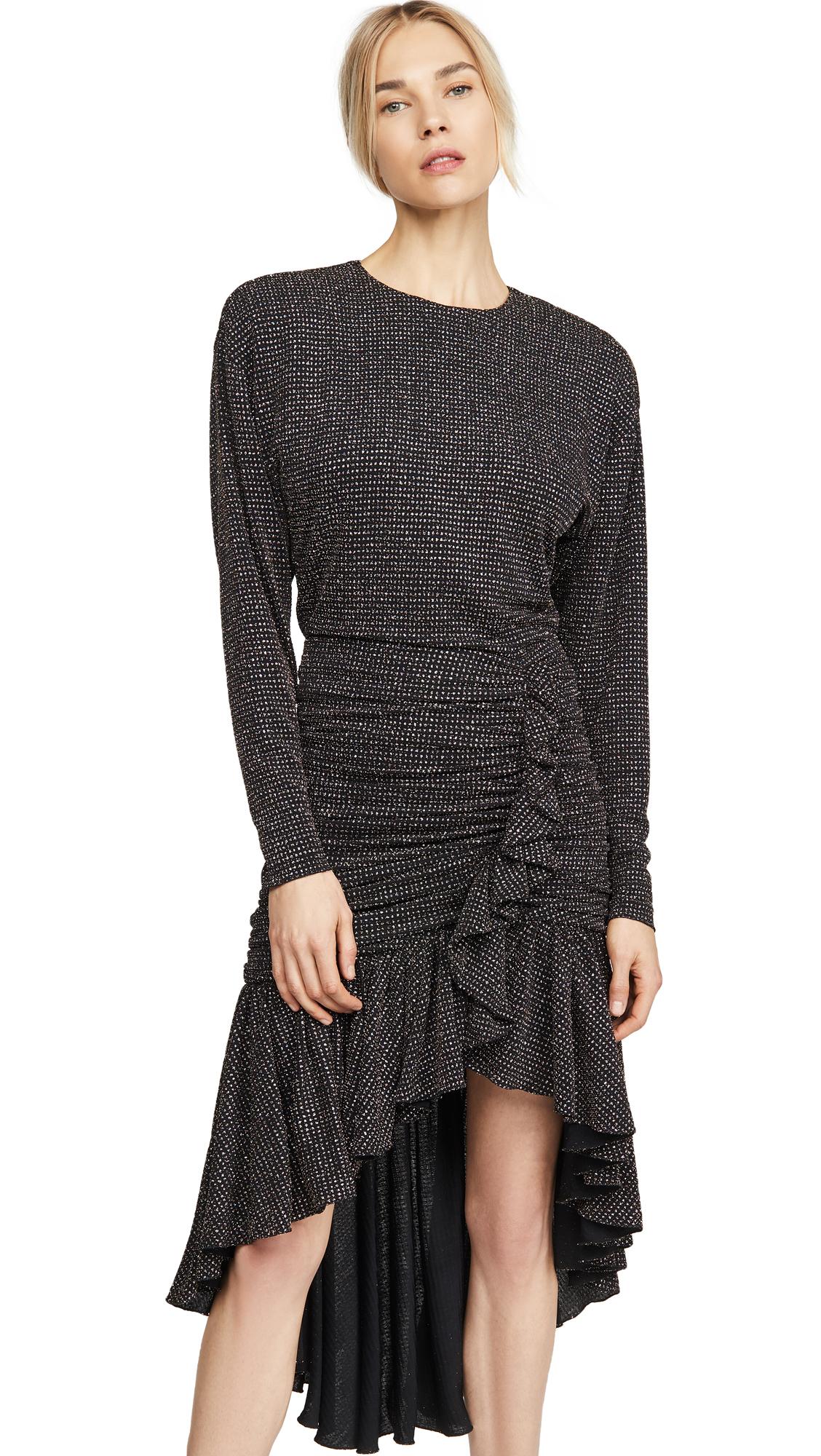 Buy Philosophy di Lorenzo Serafini online - photo of Philosophy di Lorenzo Serafini Long Sleeve Asymmetrical Dress