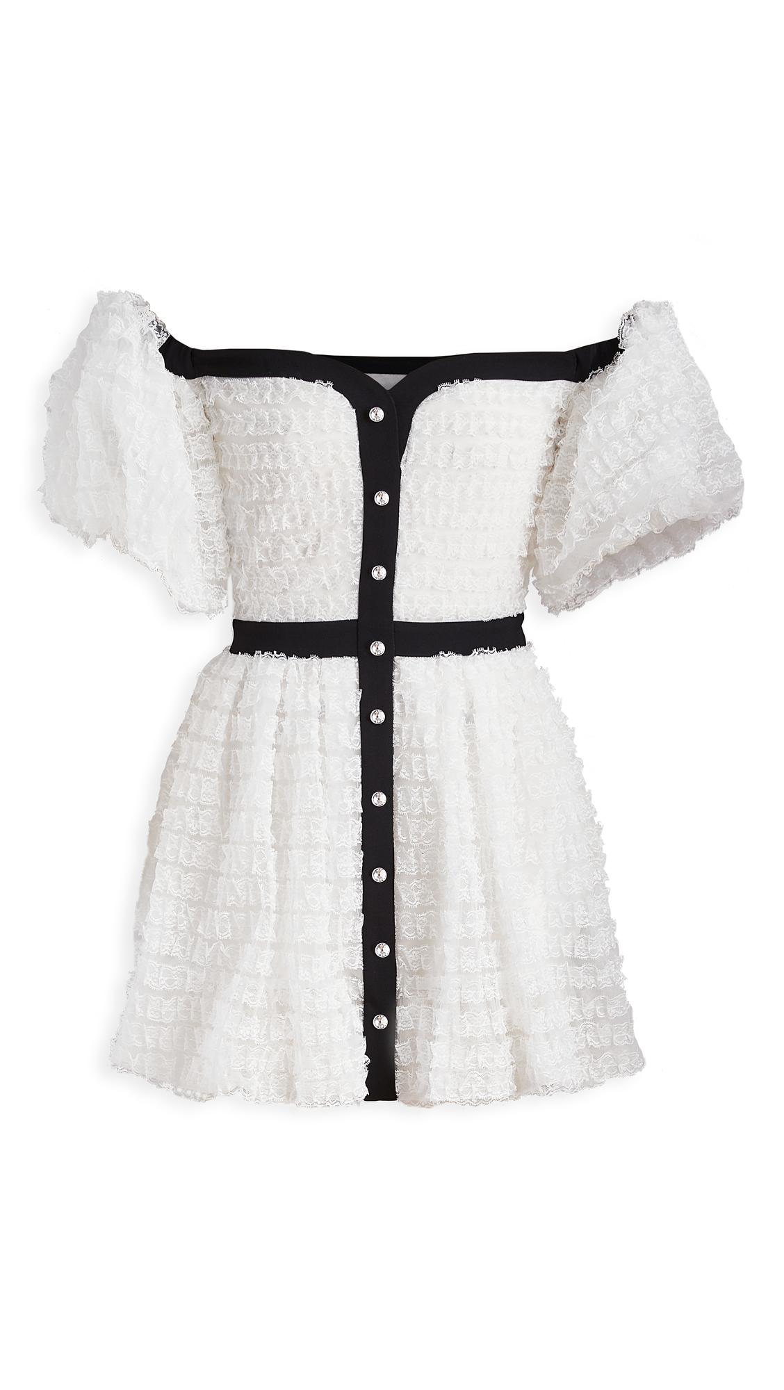 Photo of Philosophy di Lorenzo Serafini Off Shoulder Mini Dress - shop Philosophy di Lorenzo Serafini Clothing, Dresses online