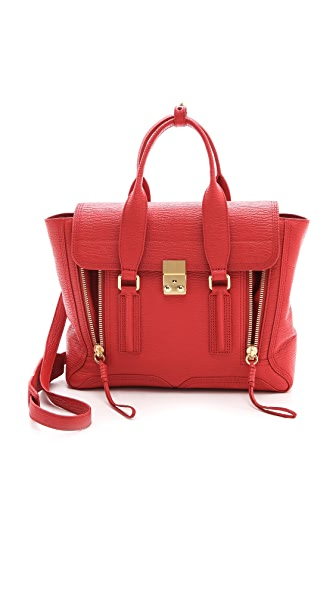 3.1 Phillip Lim Pashli Medium Satchel - Red