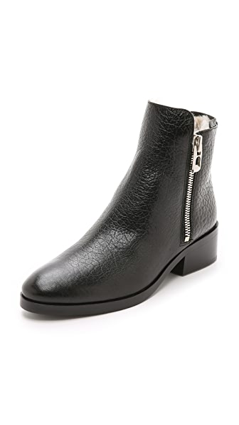 3.1 Phillip Lim Alexa Shearling Boots - Black