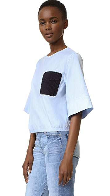 3.1 Phillip Lim Updated Boxy Tee with Crochet Pocket