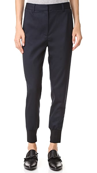3.1 Phillip Lim Jogger Pants with Ribbing - Navy
