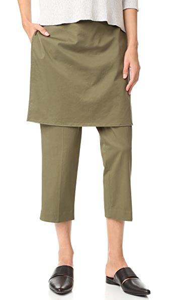3.1 Phillip Lim Abbreviated Apron Pants - Olive