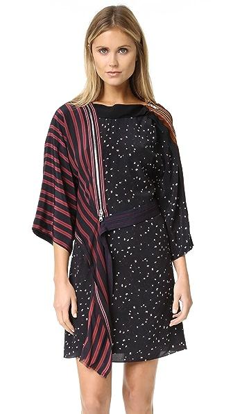 3.1 Phillip Lim Kimono Dress With Cascading Ribbon - Black at Shopbop