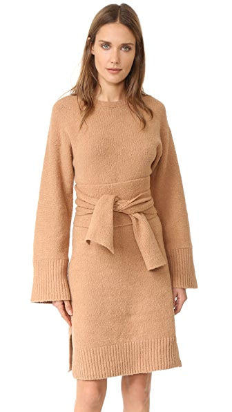 3.1 Phillip Lim Wide Sleeve Obi Belt Dress - Nude at Shopbop