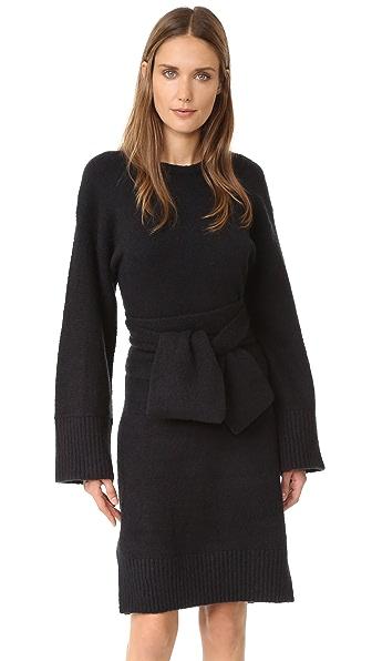 3.1 Phillip Lim Wide Sleeve Obi Belt Dress - Black at Shopbop