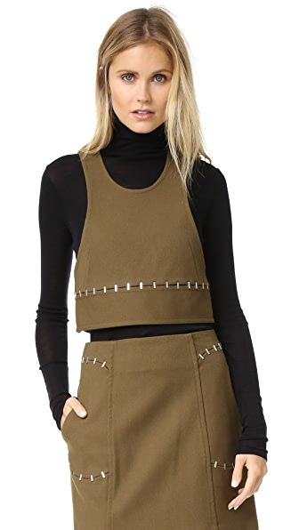 3.1 Phillip Lim Crop Tank with Staple Trim