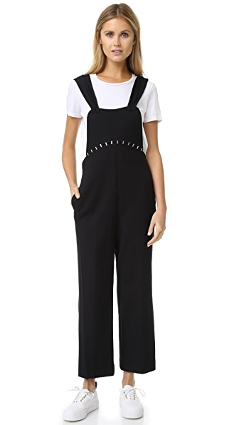 3.1 Phillip Lim Jumpsuit With Stapled Yoke - Black at Shopbop