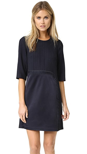 3.1 Phillip Lim Sack Dress With Curved Lacing - Midnight at Shopbop