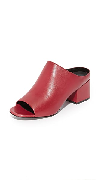 3.1 Phillip Lim Cube Open Toe Mules - Currant
