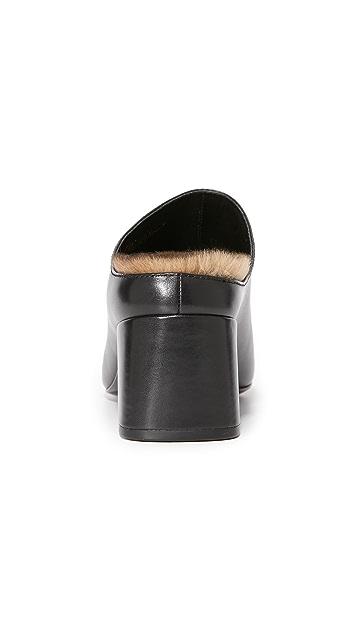 3.1 Phillip Lim Cube Fur Mules