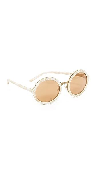 3.1 Phillip Lim Солнцезащитные очки в округлой оправе с зеркальными линзами
