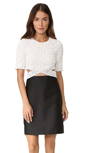3.1 Phillip Lim Short Sleeve Cluster Sequin Dress