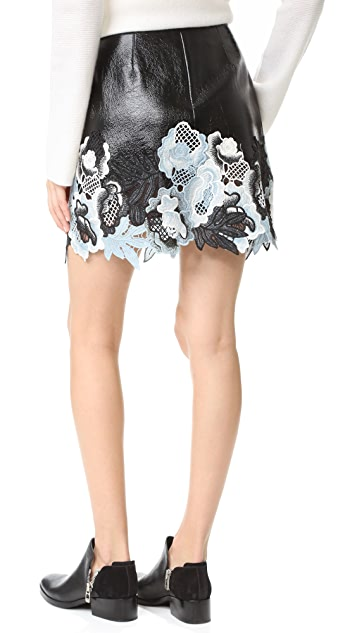 3.1 Phillip Lim Vinyl Lace Skirt