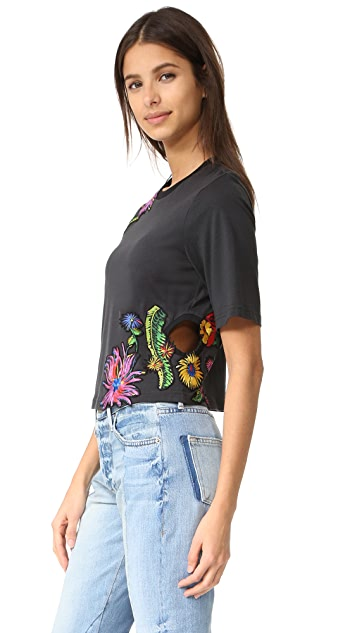 3.1 Phillip Lim Floral Embroidered Tee
