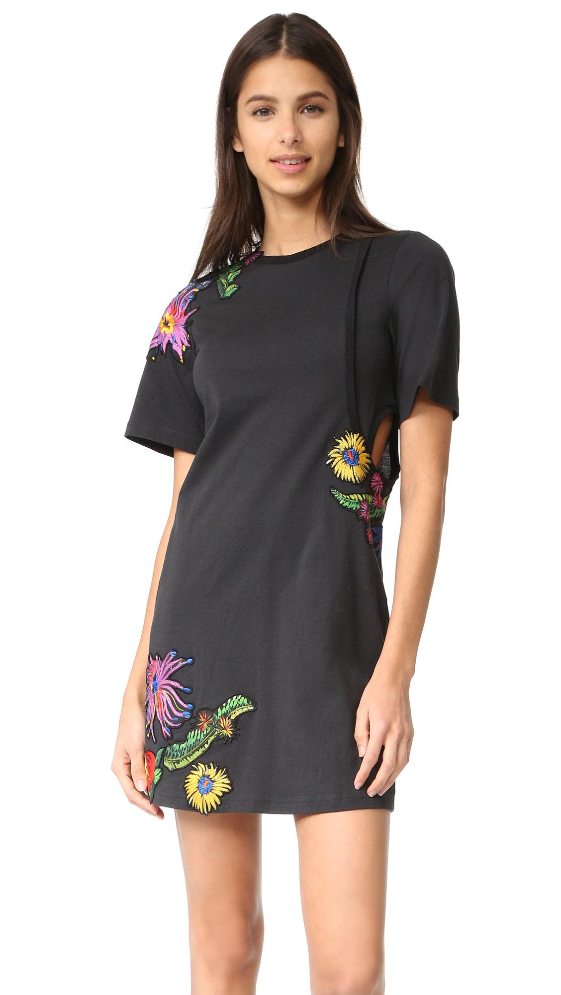 3.1 Phillip Lim Floral Embroidered Dress - Soft Black at Shopbop