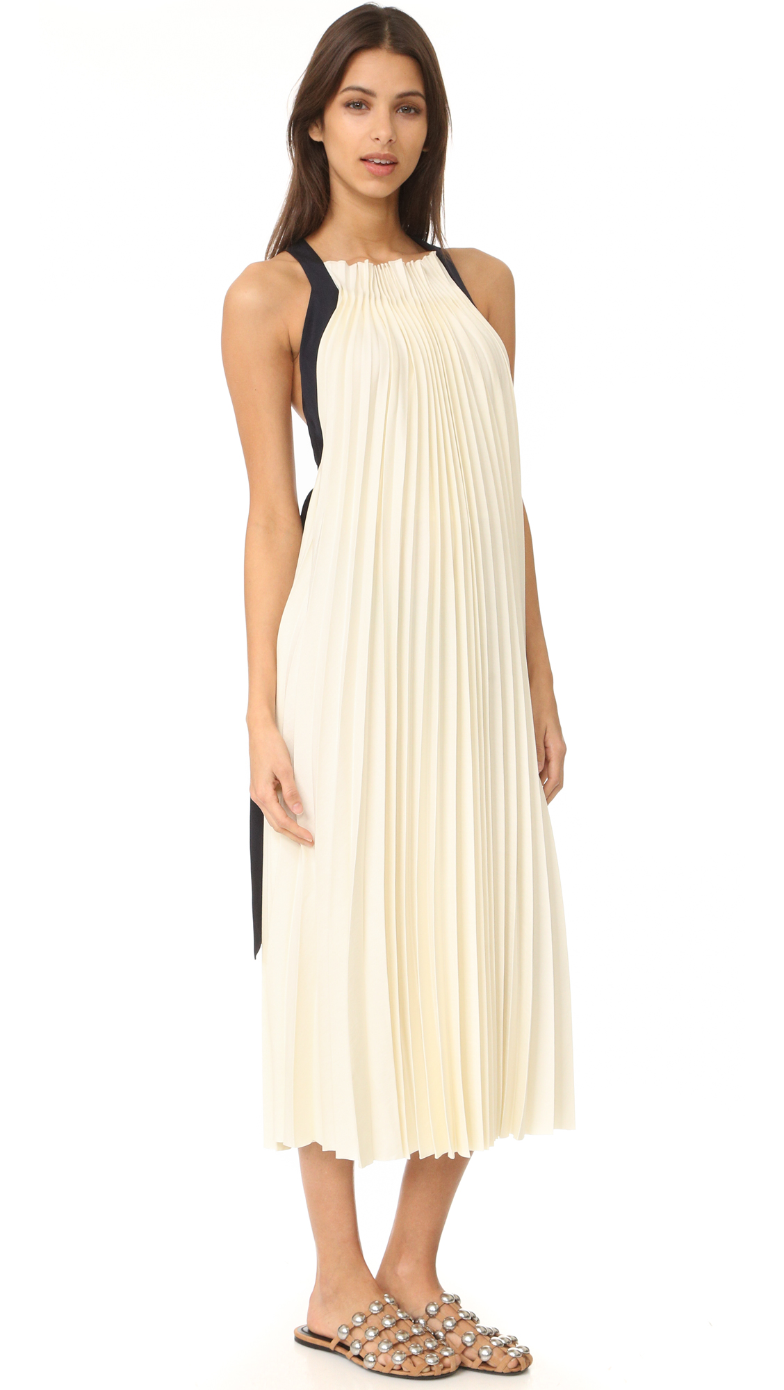 3.1 Phillip Lim Sleeveless Pleated Maxi Dress - Alabaster at Shopbop