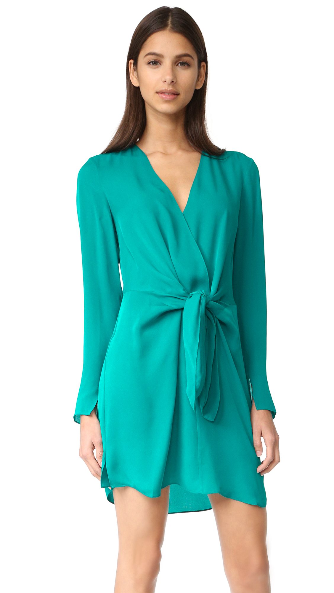 3.1 Phillip Lim Front Knot Dress - Turquoise at Shopbop