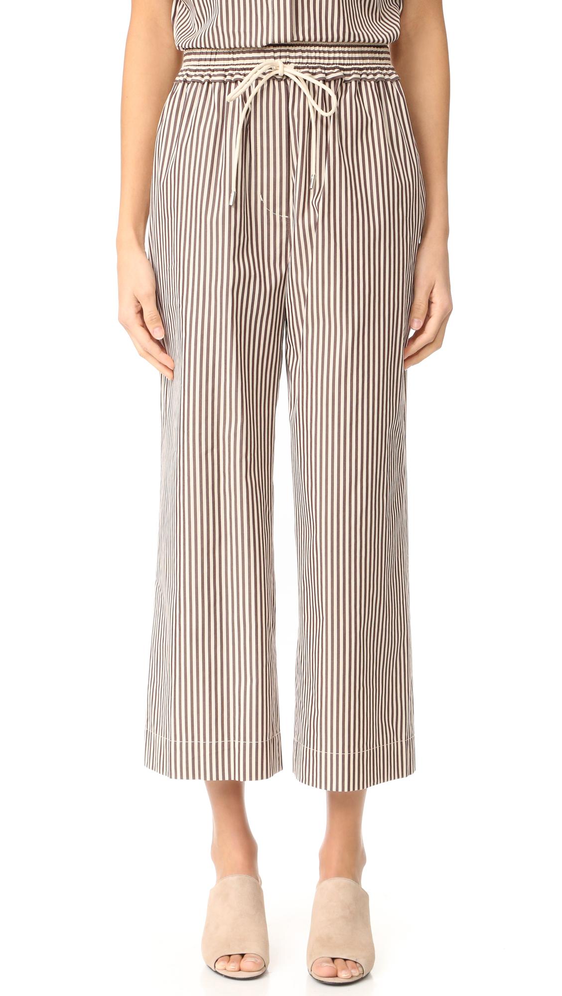 3.1 Phillip Lim Stripe Drawstring Pants - Ecru Brown at Shopbop