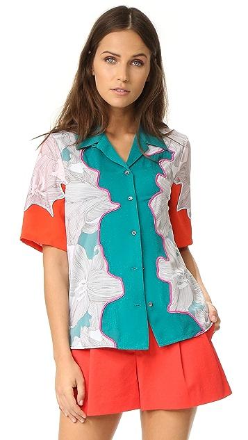 3.1 Phillip Lim Surf Floral Top
