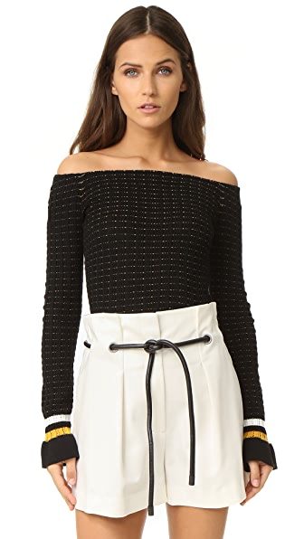 3.1 Phillip Lim Off Shoulder Crop Top at Shopbop