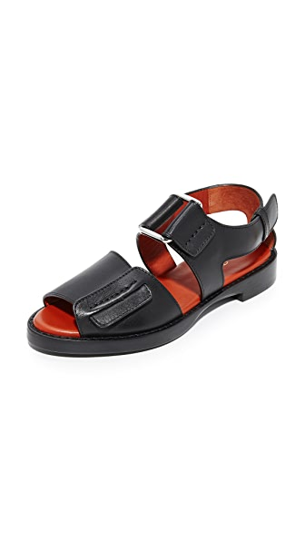 3.1 Phillip Lim Addis Flat Sandals - Black