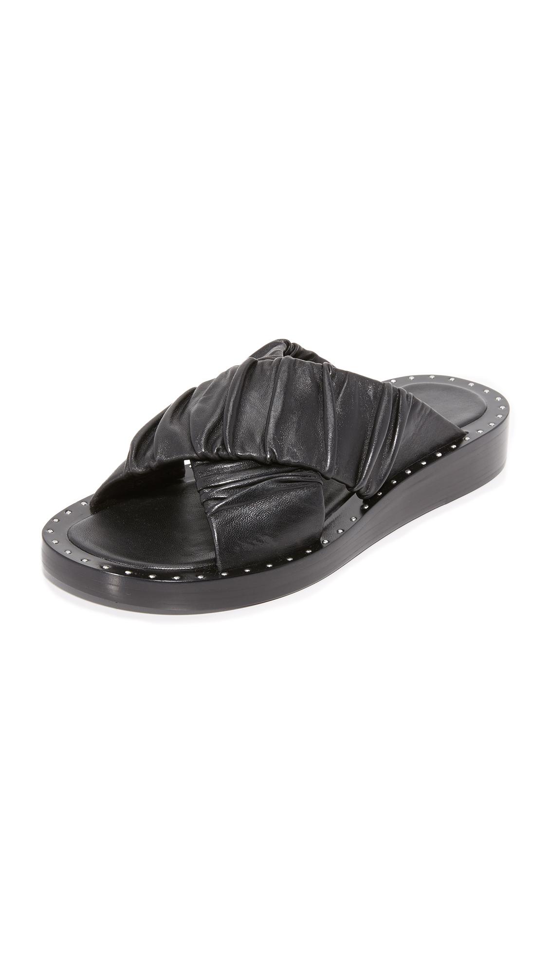 3.1 Phillip Lim Nagano Crisscross Slides - Black at Shopbop