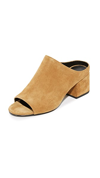 3.1 Phillip Lim Cube Open Toe Mules - Oak