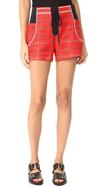 3.1 Phillip Lim Shorts with Front Tie In Poppy
