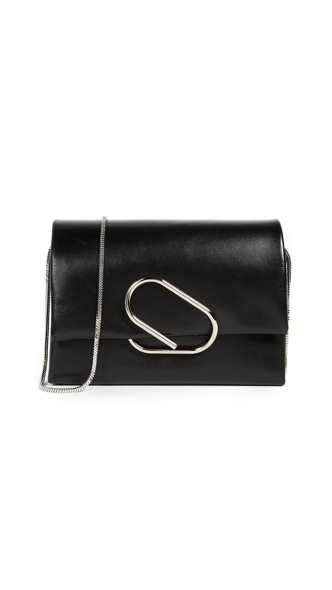3.1 Phillip Lim Alix Soft Flap Clutch - Black