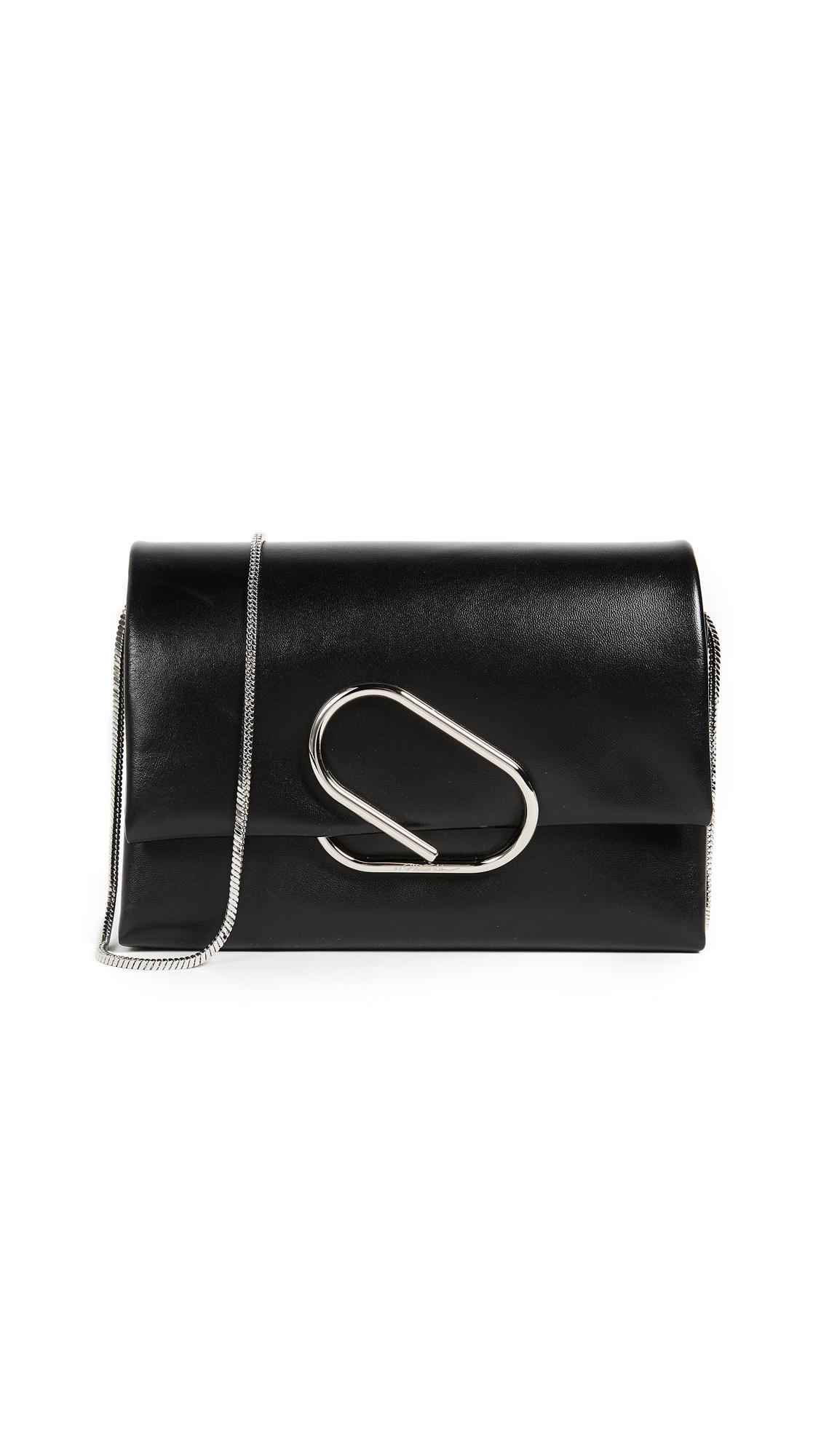 3.1 Phillip Lim Alix Soft Flap Clutch - Black