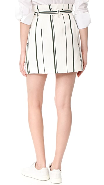 3.1 Phillip Lim Belted Striped Skirt