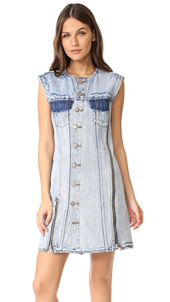 3.1 Phillip Lim Asymmetrical Denim Dress - Indigo