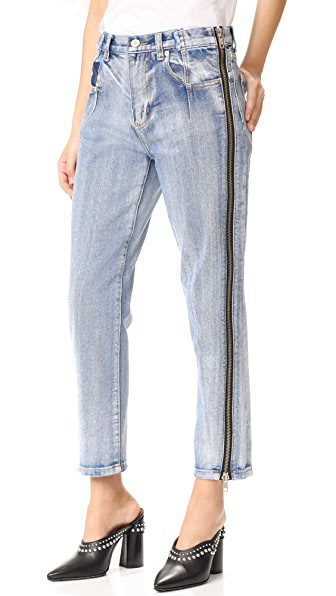 3.1 Phillip Lim Straight Jeans with Zipper at Shopbop