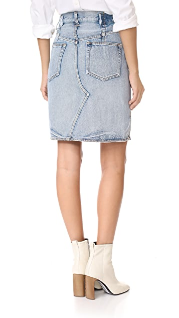 3.1 Phillip Lim Denim Asymmetrical Skirt with Zipper