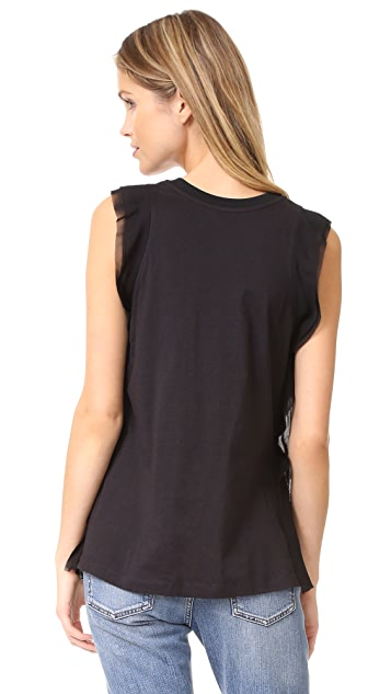 3.1 Phillip Lim Tank with Topstitch Ribbon
