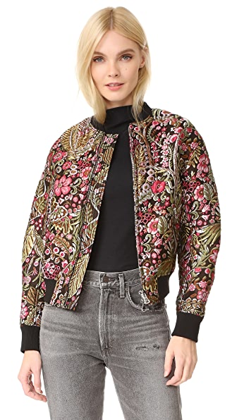 3.1 Phillip Lim Floral Cloque Bomber Jacket at Shopbop